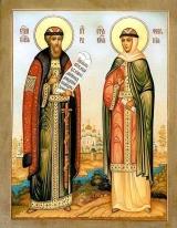Святые преподобные Петр и Феврония, в миру князь Давид и княгиня  Евфросиния, Муромские чудотворцы